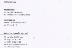 Exposition Evidences Petits Formats 2001