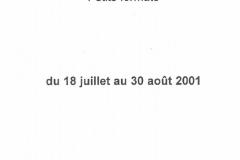 Exposition Galerie Claude Durval Salon Ete Bastille 18 Jui 2001