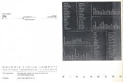 Galerie Lidija Jametti Zurigo 1991