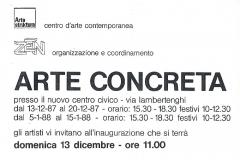 Mostra Arte Concreta Cassina Rizzardi 1987