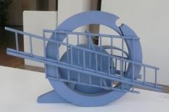 Acier Inox Couleur Bleu 28x30x25 2005